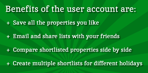 Key benefits of the user account